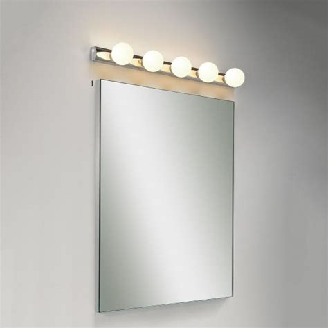 astro cabaret 5 polished chrome bathroom wall light at uk