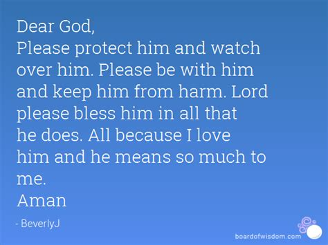 God Protect Him Quotes