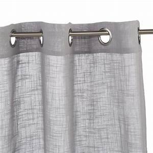 Rideau Gris Clair : rideau voilage zo 140x240cm gris clair ~ Teatrodelosmanantiales.com Idées de Décoration