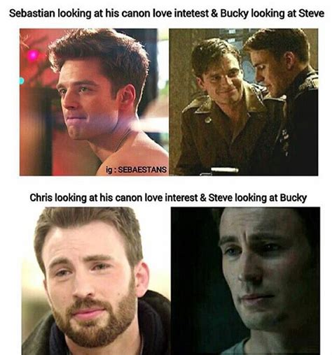 Captain America Kink Meme - stucky is real fight me on this these are pictures of them looking at their irl love interests