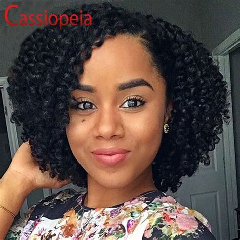 bouncy curly style full lace human hair wigs bob brazilian