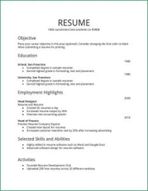 free resume templates in microsoft word
