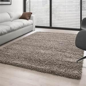 tapis shaggy pile longue couleur unique taupe 140x140 cm With tapis couleur taupe