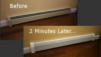 Wooden Floor Registers Home Depot by How To Replace A Baseboard Heating Cover Video Heating