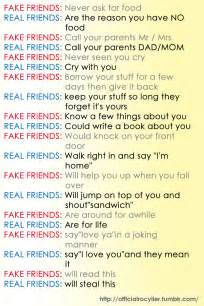 Fake Friends vs Real Friends Quotes