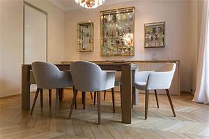 table et chaise pour salle a manger moderne With salle À manger contemporaine avec fauteuil en bois