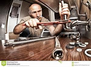 Plumber At Work Stock Photo - Image: 44099416