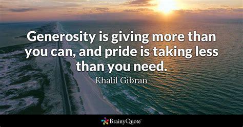 khalil gibran generosity  giving