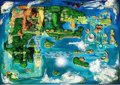 Hoenn Region Map Ruby Omega Sapphire Pokemon