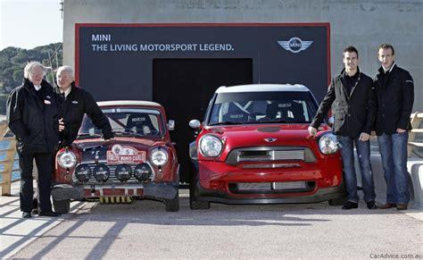 mini countryman wrc car joins original mini cooper