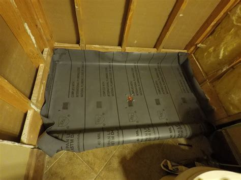 How To Install Shower Liner - how to build a tile shower floor shower pan liner and