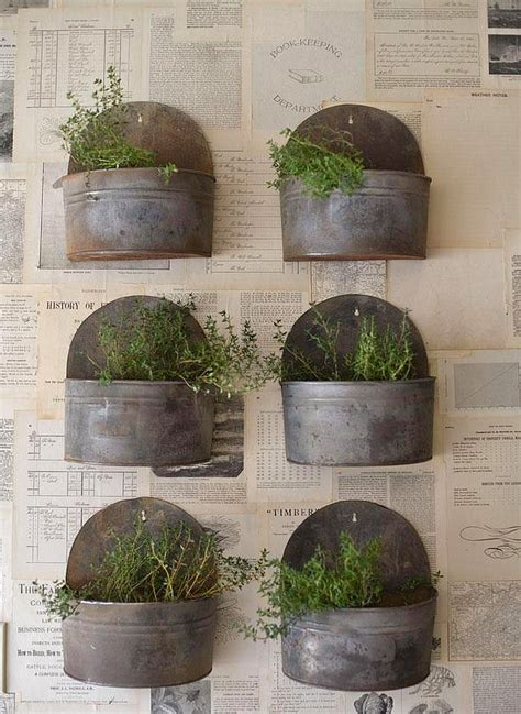 metal wall planters insanely cool herb garden container ideas the garden glove