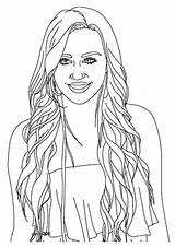 Hannah Montana Coloring Celebrity Pages Books Printable Happy Q2 sketch template