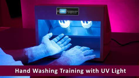 Hand Washing Training with UV Light - YouTube