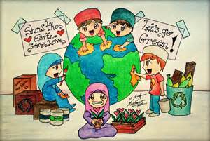 Save Earth Drawing