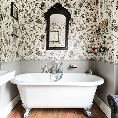 bathroom wallpaper ideas uk black and white bathroom with roll top bath bathroom