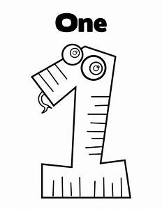Coloring Pages Numbers 1 QuotONEquot