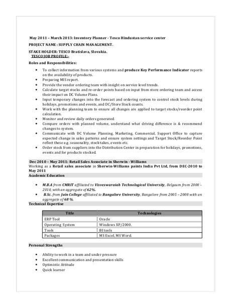 Inventory Planning Manager Resume by 33 Resume