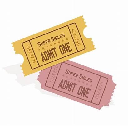 Clipart Ticket Tickets Event Transparent Plain Svg