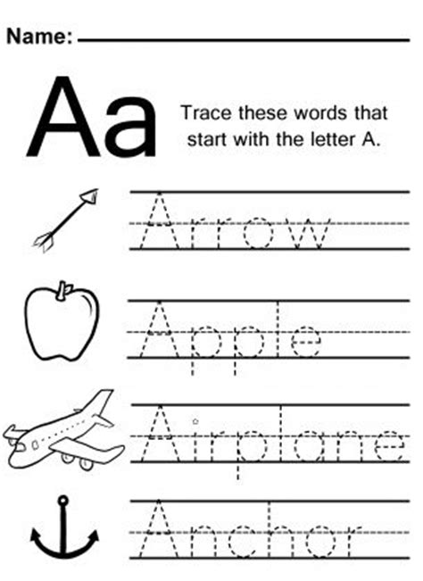 trace the letter a worksheet home school kindergarten 525 | aad09bf7b606619b2cffab192569114b teaching supplies teaching activities