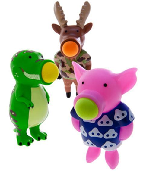 Poppers: Silly animal shooting toys with an addictive sound.
