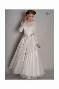 loulou blanche calf length short vintage wedding dress With vintage wedding dresses with sleeves