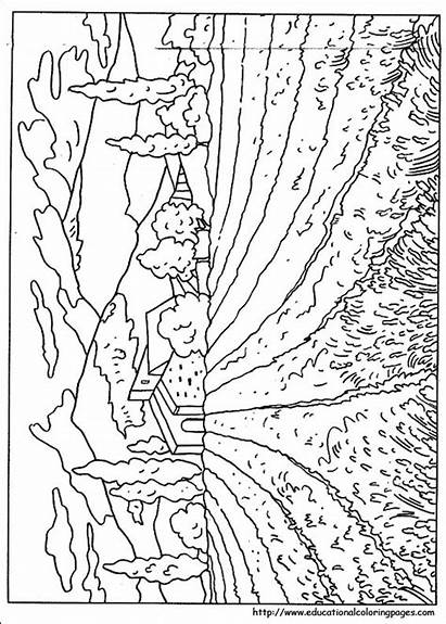 Coloring Nature Pages Printable Detailed Bookmarks Adults