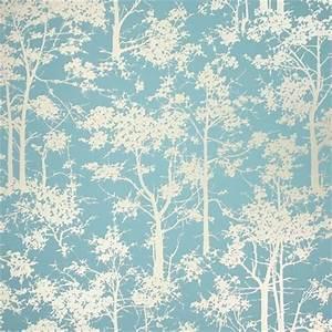 Papier Peint Fleuri : papier peint botanique bleu mandara osborne little ~ Premium-room.com Idées de Décoration