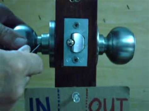 How To Remove A Best Knob Lockset From The Door Youtube