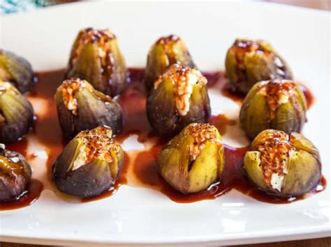 fig recipes stuffed figs with goat cheese appetizer recipe