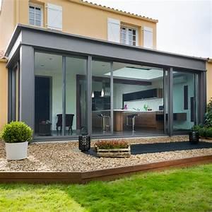 veranda aluminium a toit plat With abri de jardin contemporain 17 dco chambre cocooning with contemporain chambre