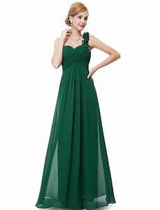 ruched one shoulder green long bridesmaid dresses 2016 With long green dress for wedding