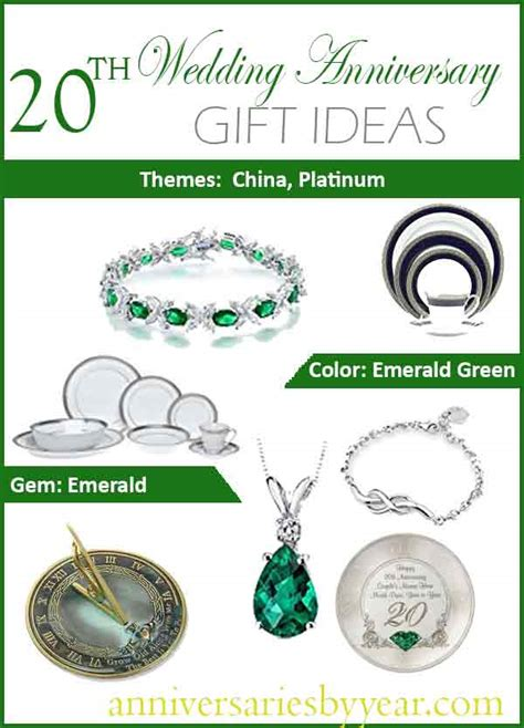 Traditional 20th Wedding Anniversary Gift Ideas