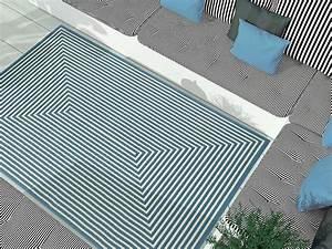Teppich Für Balkon : outdoor teppich f r terrasse balkon hell blau weiss vitaminic braid light blue 133 190 cm ~ Frokenaadalensverden.com Haus und Dekorationen