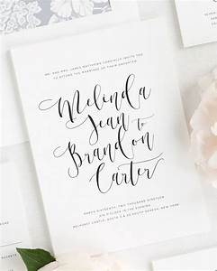 flowing calligraphy wedding invitations wedding With writing wedding invitations in calligraphy