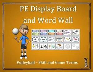 Volleyball Word Wall Display: Skill, Graphics & Game Terms ...