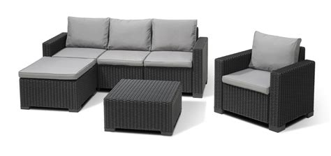 chaise allibert allibert moorea lounge set graphite allibert