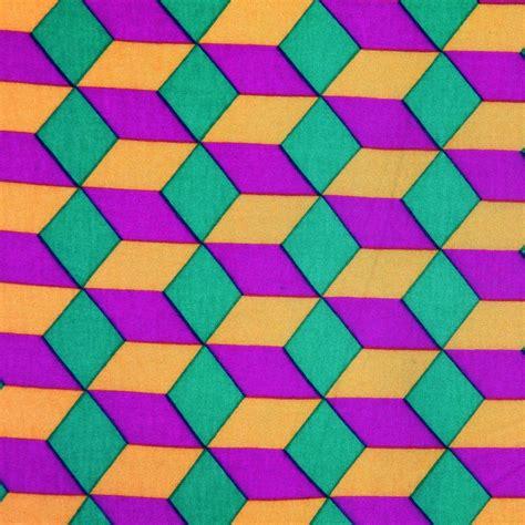 Sienna/Mint/Magenta Geometric Jersey Prints | Mood fabrics ...