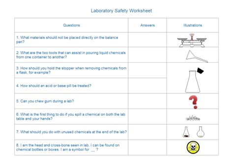 Create Lab Equipment Worksheet With Premade Symbols