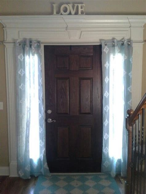 front door sidelight curtain rods 17 best images about sidelights coverings on