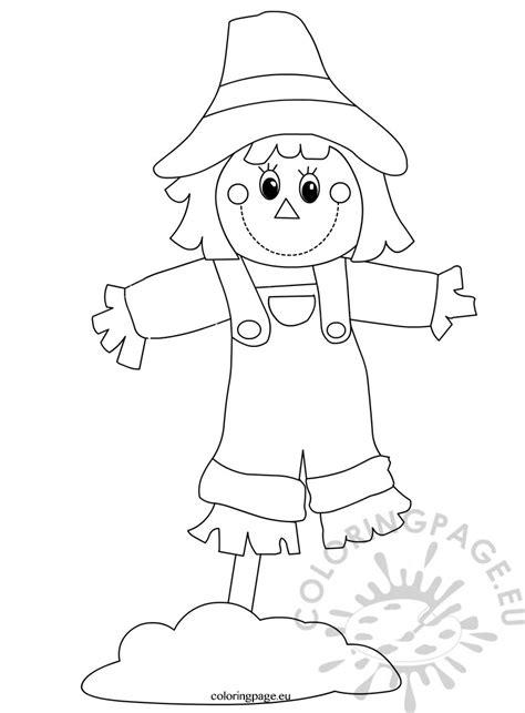 preschool seasons worksheets scarecrow coloring page