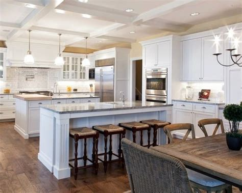 kitchens with two islands two island kitchen houzz 6654