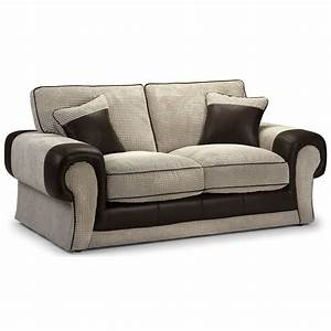 Tangent 2 seater sofa bed leather look jumbo cord for Sofa bed for two