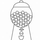 Coloring Gum Machine Bubble Gumball Template Drawing Colouring Bubblegum Getcolorings Getdrawings Printable Pag Colorings sketch template