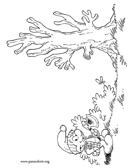smurfs timber smurf coloring page