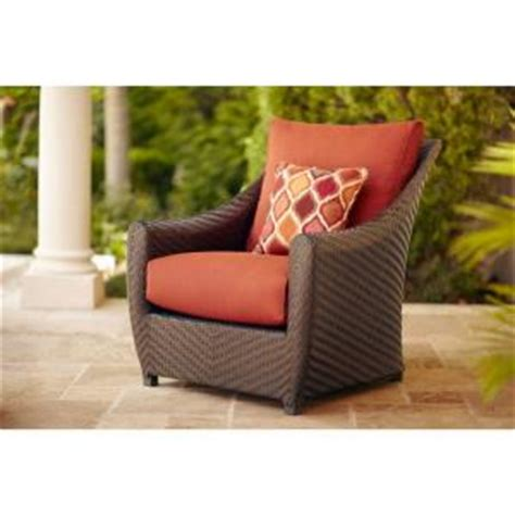 buy brown highland patio lounge chair in cinnabar