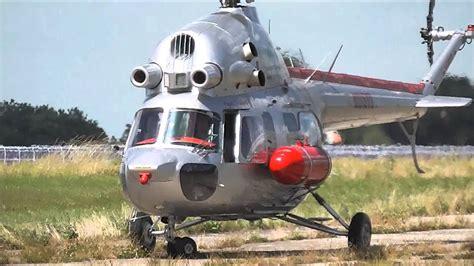 Russian Mil Mi-2 Helicopter Landing In Giebelstadt Germany
