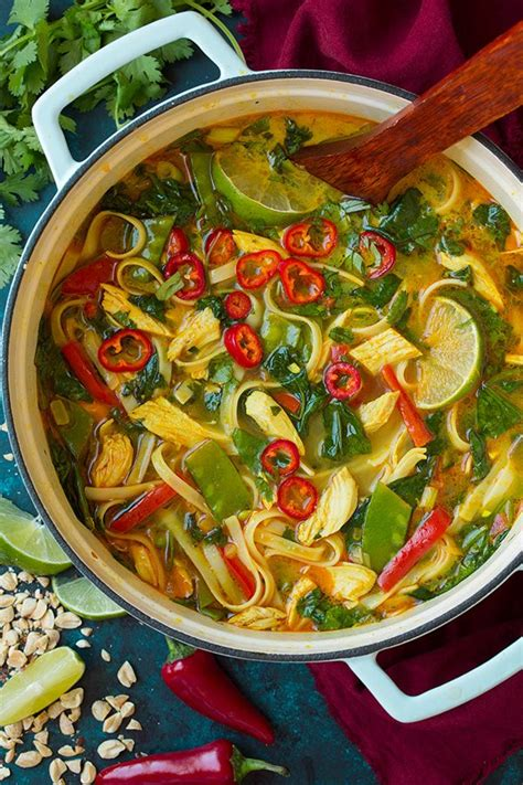thai coconut curry chicken soup cooking classy