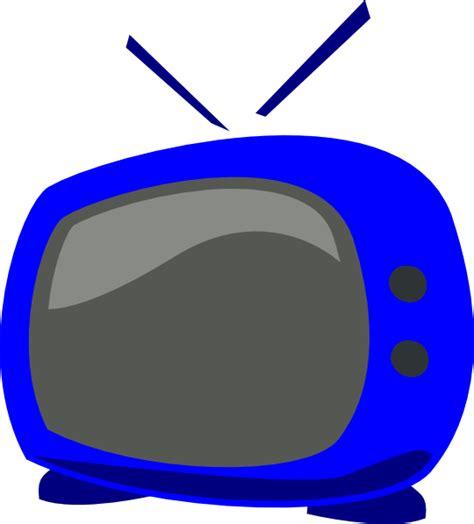 tv clipart blue tv clip at clker vector clip
