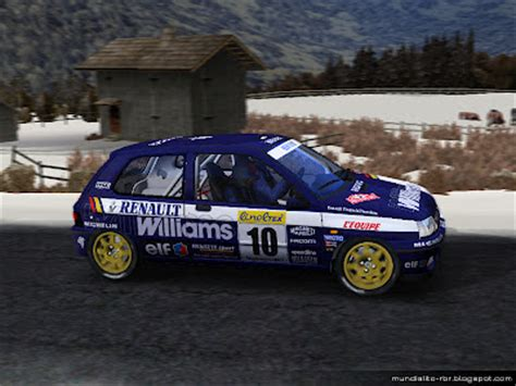 rbr clio williams template chr productions renault clio williams williams f1